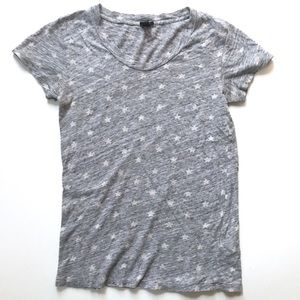 J. Crew Gray & White Vintage Cotton Star T-Shirt